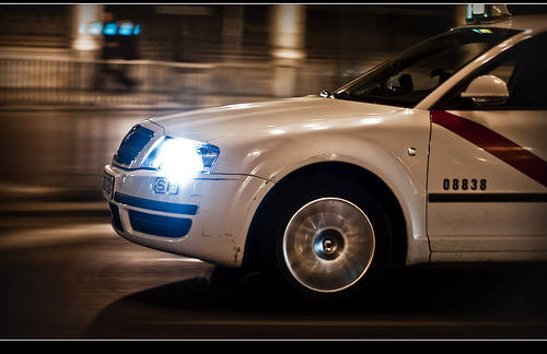 Taxi Madrid nocturno