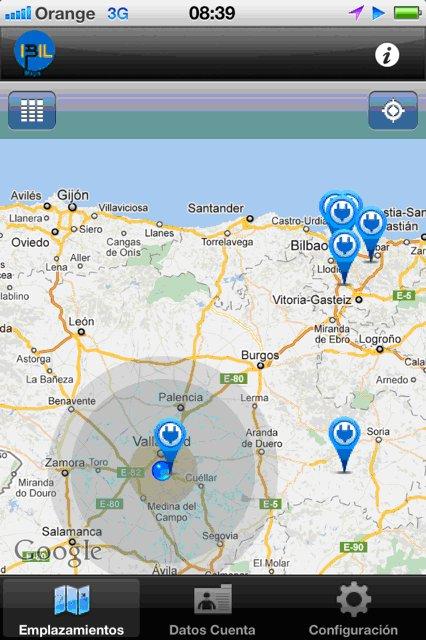 Econet visualizacion puntos recarga eléctrica