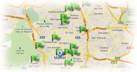Puntos de recarga eléctrica de España